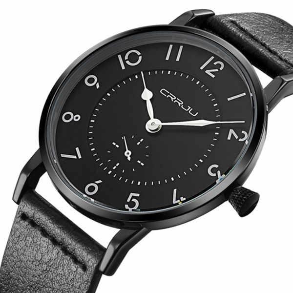 Montres pour hommes Top marque de luxe bracelet en cuir montre-bracelet ultra-mince hommes montre étanche reloj hombre relogio masculino 2019