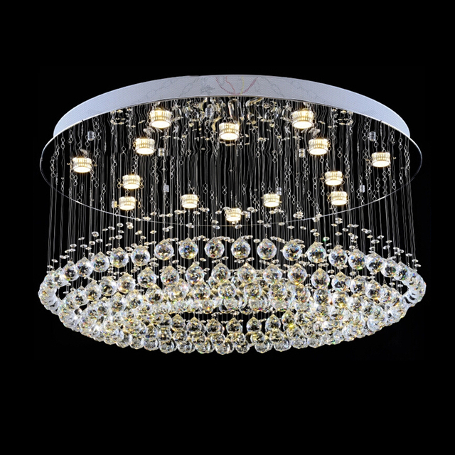 Qyartistry Modern Crystal Chandelier For Stair Spiral Design Led Lamp Luxury Hanging Indoor Hallway Lighting