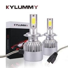 KYLUMMY H1 H3 H4 H7 H11 H27 Светодиодный лампа фары автомобиля противотуманные 35 Вт 6000 К 8000Lm Turbo светодиодный лампа УДАРА Огни автомобильной передние фары