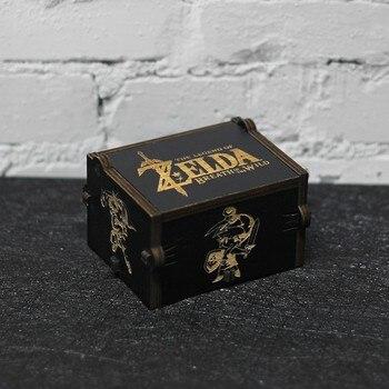 Nowe antyczne rzeźbione drewniane uchwyt czarny legenda Zelda Star Wars gra o tron pozytywka drewniane pozytywka prezent urodzinowy