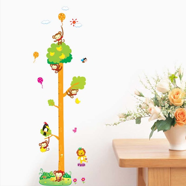 Wall Art Hanging Height : Aliexpress buy kids height chart wall sticker home