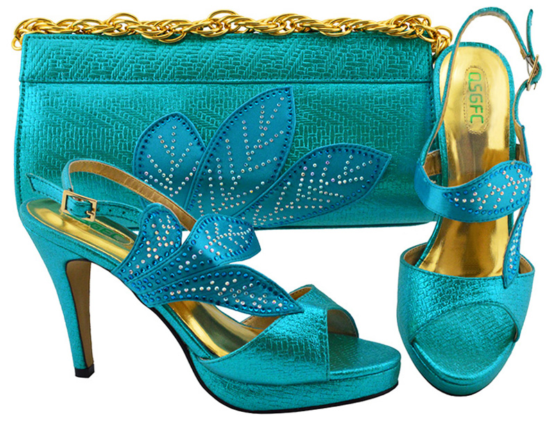 New Fashion Italian Design Nigeria Shoes With Matching Bags African High Heel Women Shoes and Bags Set For Prom Party MM1068 aidocrystal luxury handmade crystal sunflower high heel women italian shoes with matching bags