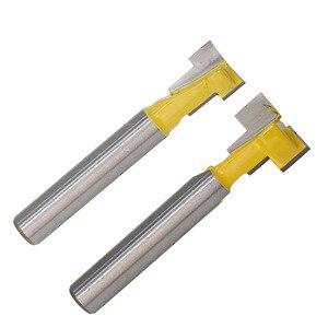 Image 4 - 2 ชิ้น/เซ็ต 1/4 นิ้ว Shank T Slot Keyhole ตัดไม้ Router บิตคาร์ไบด์เครื่องตัดสำหรับตัดไม้ Hex Bolt T  Track Slotting เครื่องตัดมิลลิ่ง