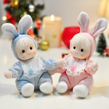 Rabbit baby bobble head doll music box new year Christmas wedding and birthday gift for child male girl free shipping