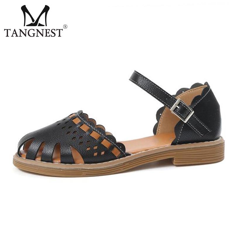 Tangnest Women Sandals New Design Closed Toe Wedge