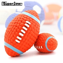 Rubber Dog Squeaky Toys Rugby Football Volleyball Chew Toy for Small Medium Large Dogs Outdoor Pet Training Pets Products LCT04
