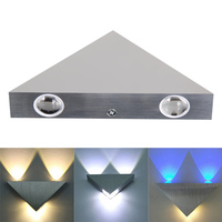 3W AC85 265V Aluminum Triangle LED Wall Mounted Lamp High Brightness LED Modern Home Lighting Indroor