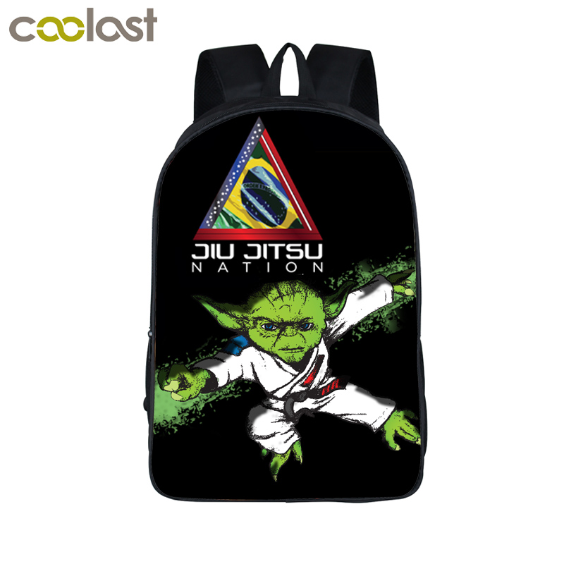 BRAZILIAN Jiu jitsu Backpacks for Teenage Girls Boys Schoolbag Judo Karate Children School Bags Bjj mochila Women Men Travel Bag anime noragami aragoto yato backpack for teenage girls boys cartoon yukine children school bags casul book bag travel backpacks