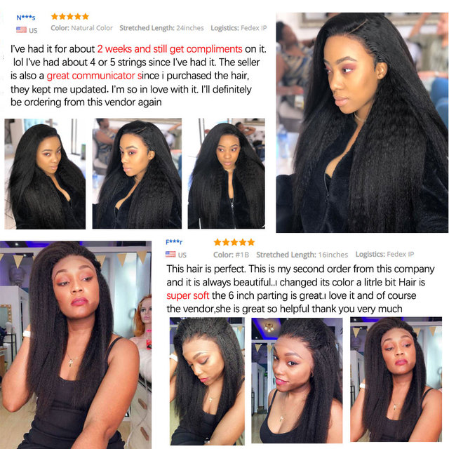 Kinky Straight Hair Bundles Peruvian Hair Bundles Remy Yaki Human Hair Extension 1/3/4 Bundle Deals Hair Weave