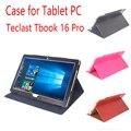 Caso para Tablet PC Teclast Tbook 16 Pro Folding Fique Protective pele Tbook Utra Fina Flip Caso Capa de Couro para Teclast 16 Pro
