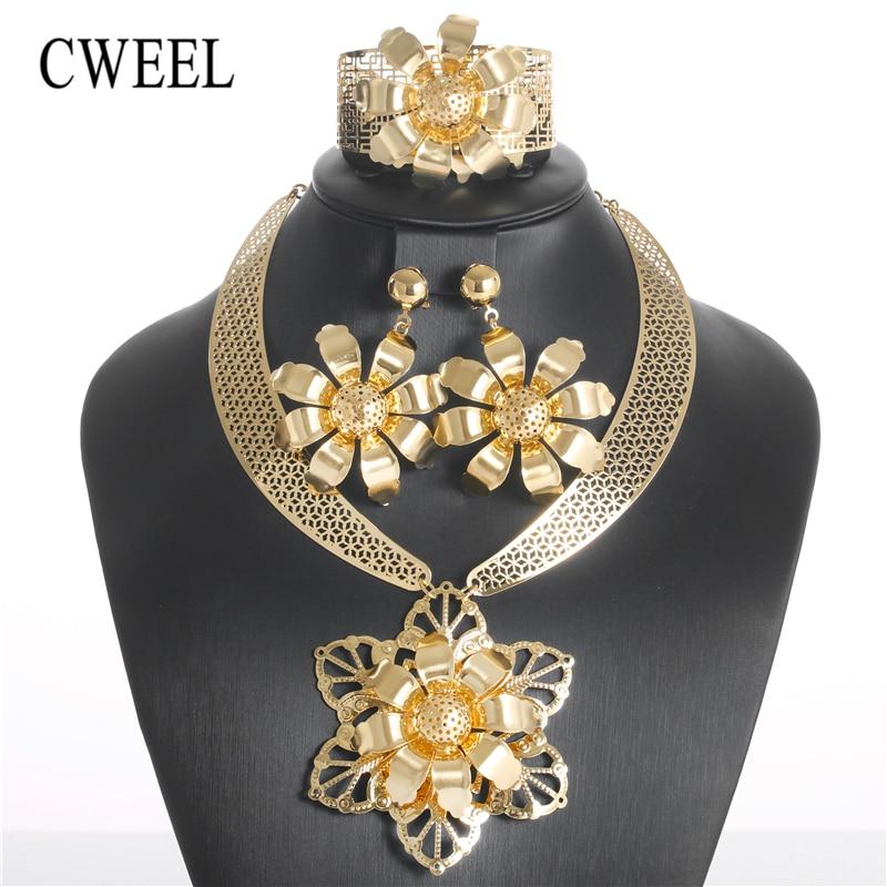 CWEEL Bridal Jewelry Sets Vintage African Beads Jewelry Set Round Turkish Ethiopian Dubai Indian Wedding For Bride Jewelry Sets цены онлайн