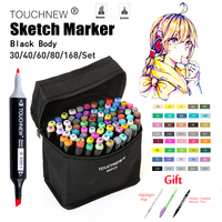 Touchnew 30 40 60 80 168 Colors Art Markers Set Alcohol Oily Base Sketch Markers Pen