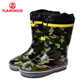 FLAMINGO branded 2017 new collection spring-autumn fashion gumboots with wool quality anti-slip kids shoes for boys 71-HL-0018