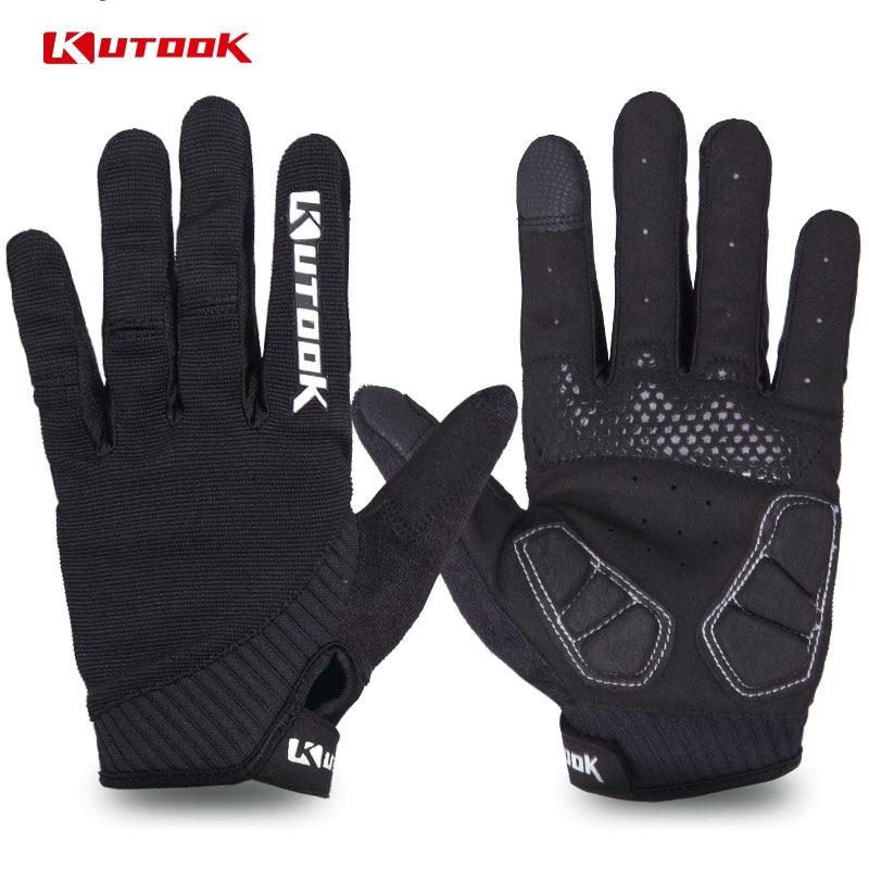 KUTOOK Touch Screen Mountain Bike Gloves Breathable Cycling Full Finger Gloves MTB Anti slip Bike Gloves