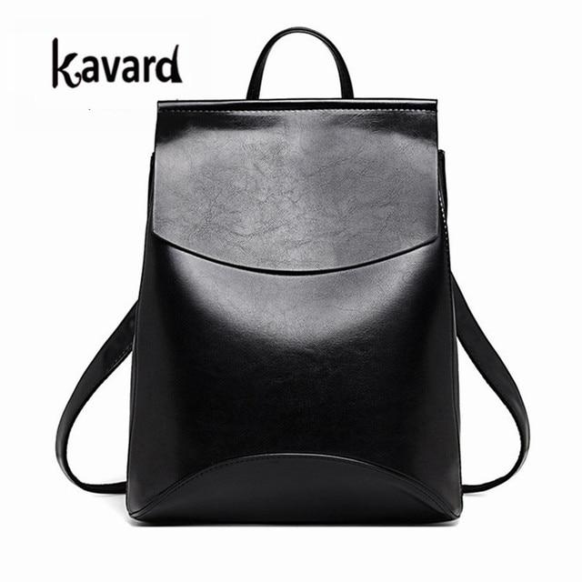 a5a9cae6b3b9 Кавар испанский бренд 2017 Дизайн Pu женские кожаные рюкзаки школьная сумка  студенческий рюкзак женские сумки кожаный