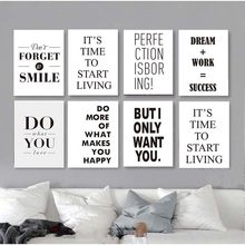 Nordic Wall Art For Living Room Home Decor Modular Dream Work Success Life Quotes Picture Canvas Painting Poster Art Prints(China)