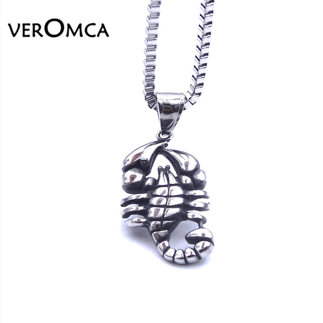 Veromca scorpion pendants necklaces stainless steel necklace animal veromca scorpion pendants necklaces stainless steel necklace animal fashion men and women jewelry scorpio insect pendant mozeypictures Images