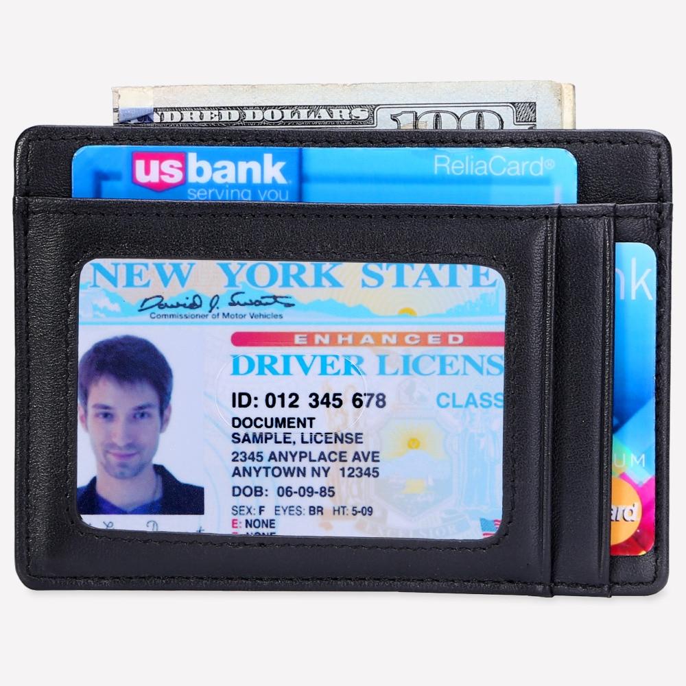 099200ffdfbb Slim Wallet RFID Credit Card Holder Front Pocket Wallet Minimalist Secure  Thin Credit Card Case Men Mini Coin Pocket