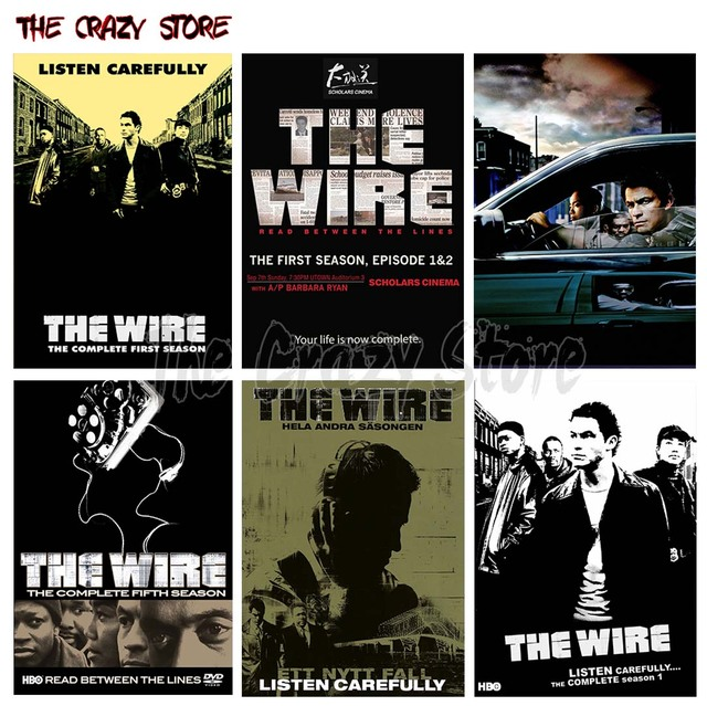 The Wire Retro Poster Retro Kraft Paper Bar Cafe Home Decor