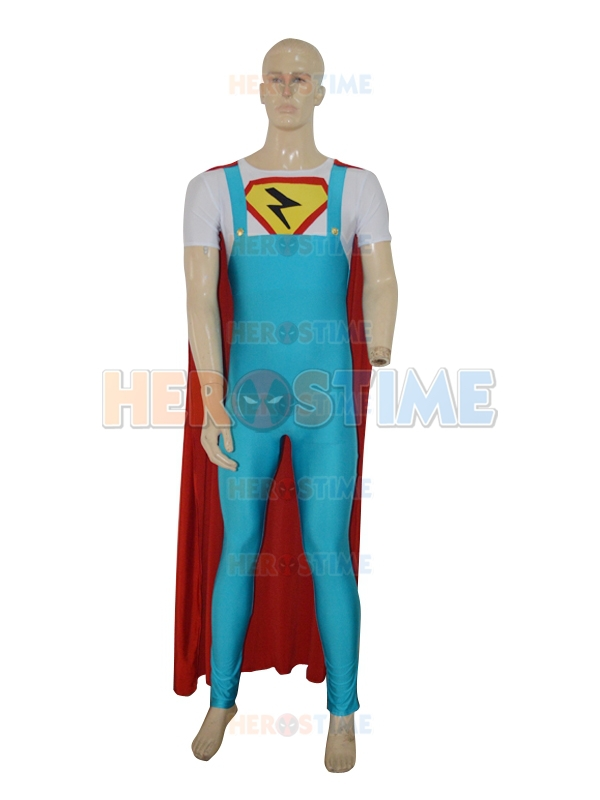 Lycra Spandex Superman Costume New Style Suspender Shape One piece The Flash Costume with cape Custom-in Boys Costumes from Novelty u0026 Special Use on ...  sc 1 st  AliExpress.com & Lycra Spandex Superman Costume New Style Suspender Shape One piece ...