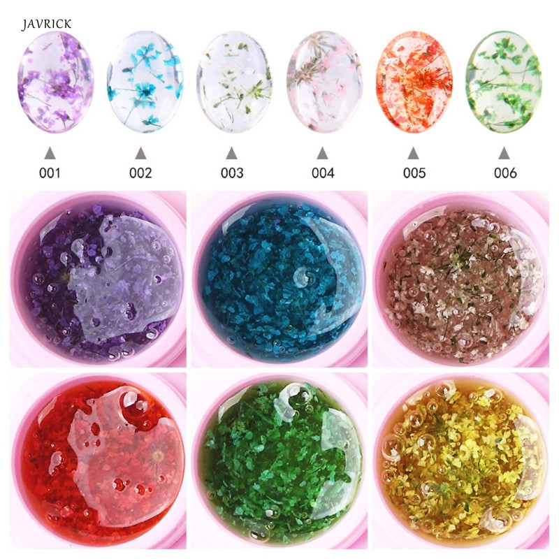 Colorful Resin Liquid Pigment Dye Raw Material Natural Picked Dried Flowers Glue Jewelry Accessories