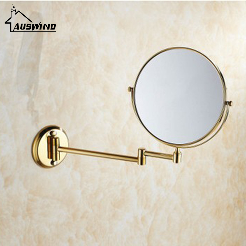 Bath Mirrors 3 X Magnifying Mirror Of Bathroom Makeup Mirror Folding Shave 8 Dual Side Antique Copper Wall Round Mirrors Sj20