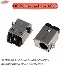 JCD For ASUS DC POWER JACK CONNECTOR CHARGING PORT FOR ASUS X75 X75A X75SV X75VB X75VC X75VD G46 G46V G46VW F75A-EH51 F75A-WH31 for asus x75vc x75v x75vd x75vb rev2 0 gt720m motherboard 4gb hm76 fully tested