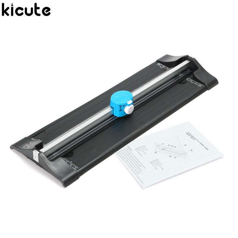 Kicute Convenient Portable A4 A3 Precision Photo Paper Cutter Trimmer Guillotine Scrapbook Multifunctional Fold Cutting Machine visad scissors portable paper trimmer paper cutting machine manual paper cutter for a4 photo with side ruler