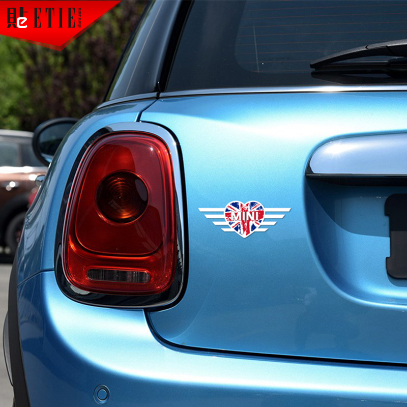 ETIE A Lots Pegatin MINI Heart Logo Vinyl Decals UK National Flag - Custom car vinyl stickers uk