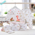 2016 New 5pc Cotton Newborn Baby clothes Sets 0-3 Month boy girls sleepwear Long Pants
