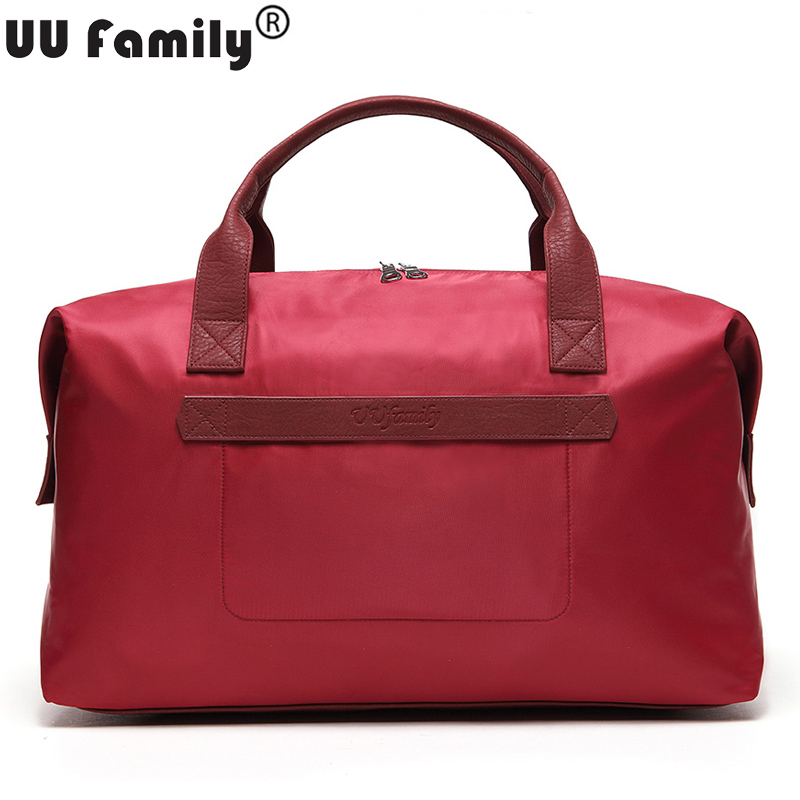 UU Family 2016 Women Travel Duffel Bag Foldable Travel Tote Men Large Capacity Overnight Bags Weekender
