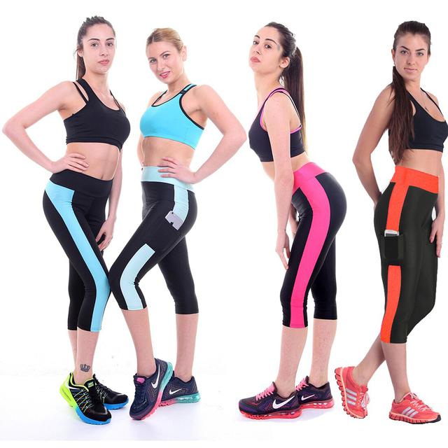 Fashion Style Women's Stretchable Elastic Capris Pants