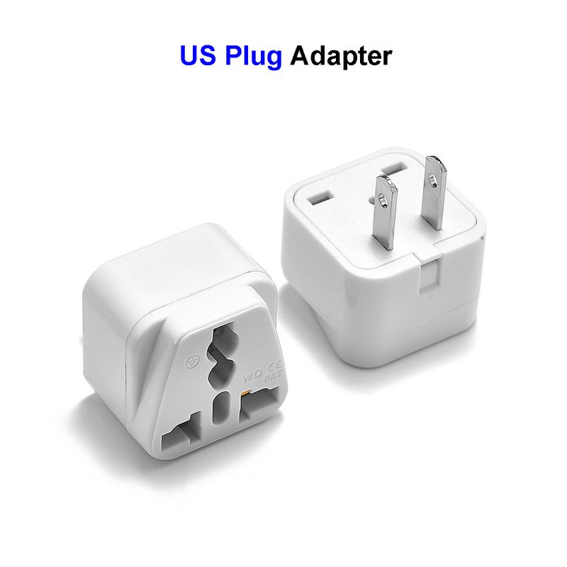 300pcs Universal US American Japan CN Plug 2 Pin AU UK EU To China USA Travel