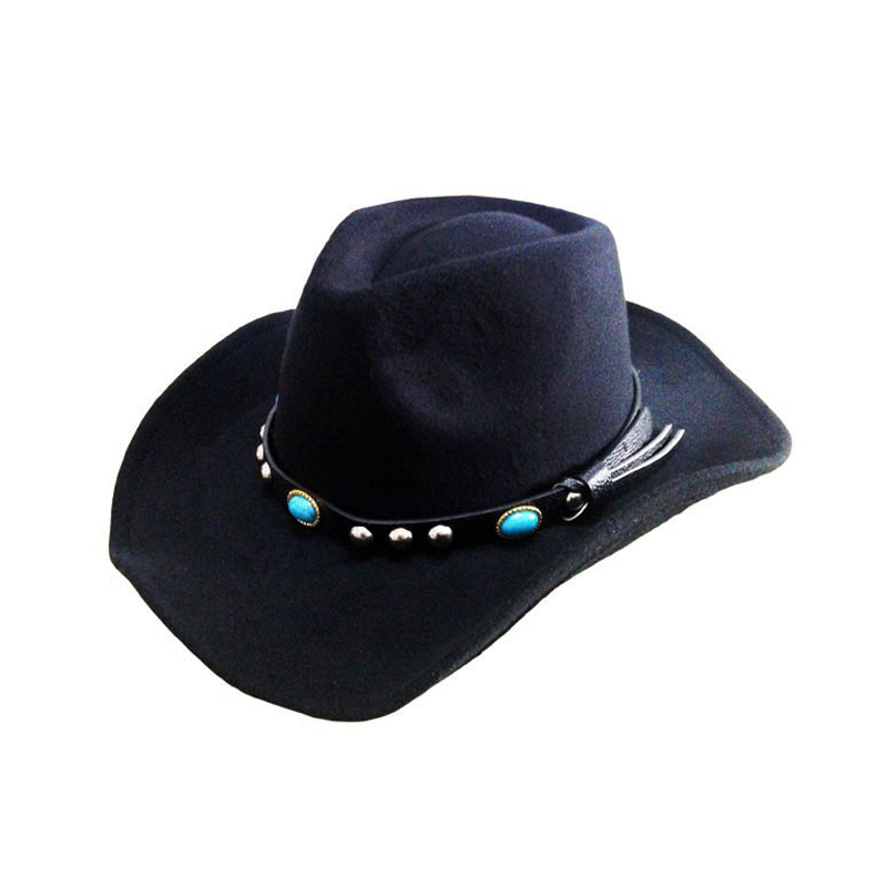 8d440e9f40f High Quality Wool Fedoras Hats For Men Women Winter Fedora Hat Cowboys Caps  with Belt Panama Jazz Wool Felt Bowler Hat YY0395-in Fedoras from Apparel  ...