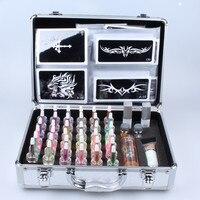 38 Colors Glitter Tattoo Powder Kit For Temporary Tattoo Body Art Popular Flash Tattoo Shinning Tattoo