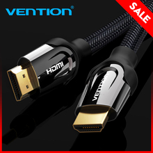 Vention HDMI Cable HDMI to HDMI cable HDMI 2.0 4k 3D 60FPS Cable for HD TV LCD Laptop PS3 Projector Computer Cable  1m 2m 3m 5m(China)