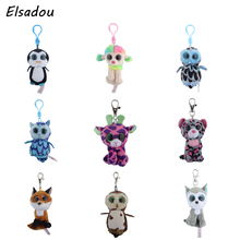 Elsadou Ty Beanie Boos Big Eyes Plush Keychain Toy Doll TY Baby Kids Gift