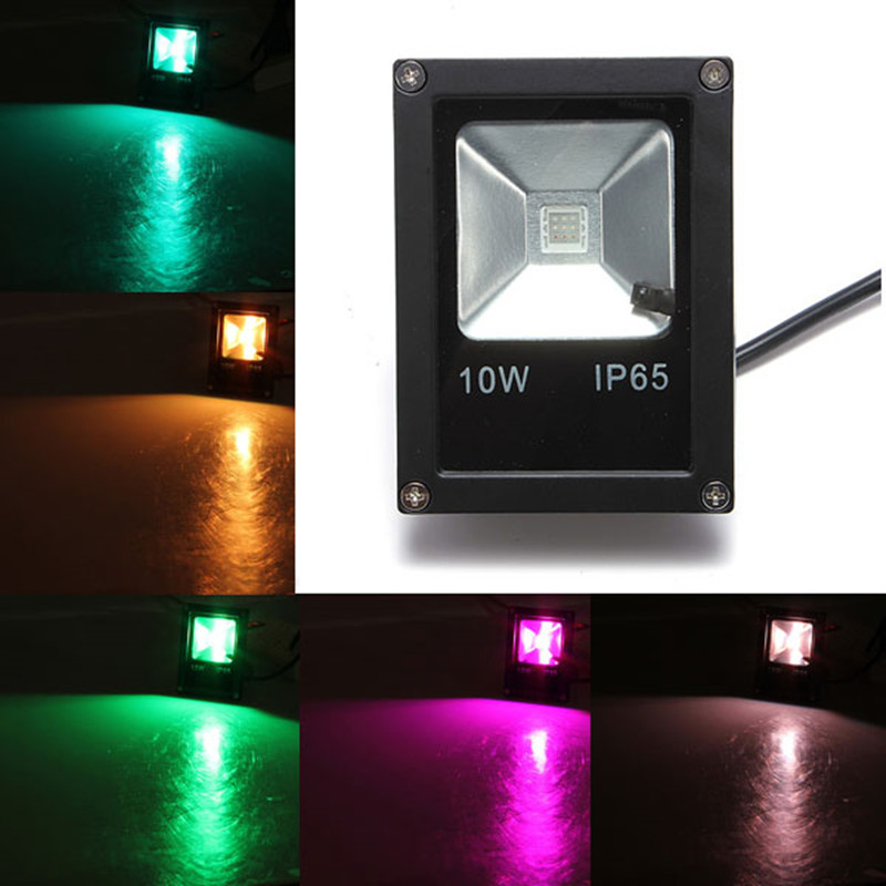 <font><b>10W</b></font> 20W 30W 50W DC12V <font><b>LED</b></font> Flood Light <font><b>Red</b></font>/Green/Bulb/Yellow/Warm White/Cold White/RGB Landscape Outdoor Floodlight Free shipping image