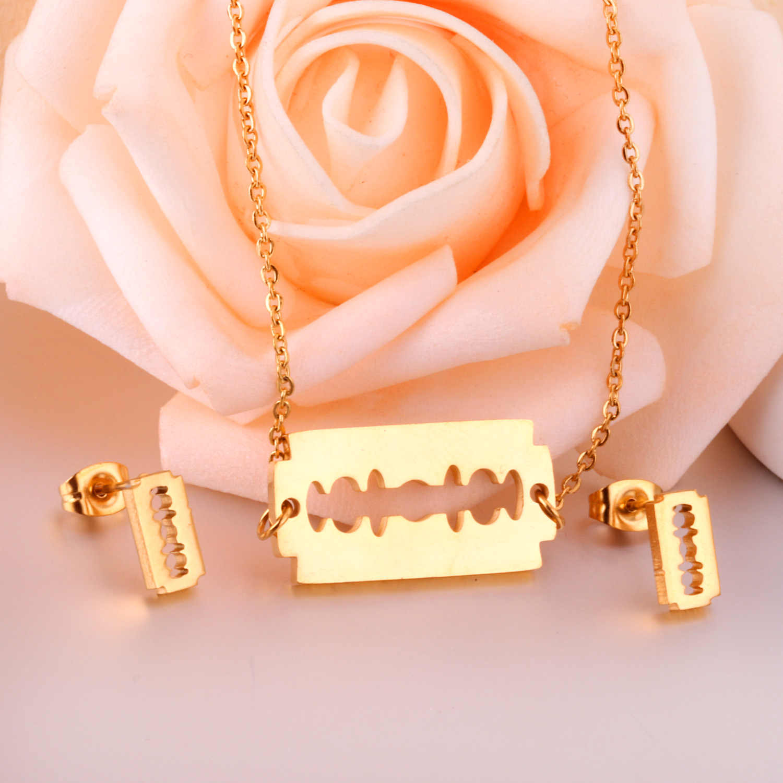 LUXUKISSKIDS Gold African Dubai Schmuck-Sets Für Frauen Mode Halskette Ohrringe Schmuck-Set Schmuck