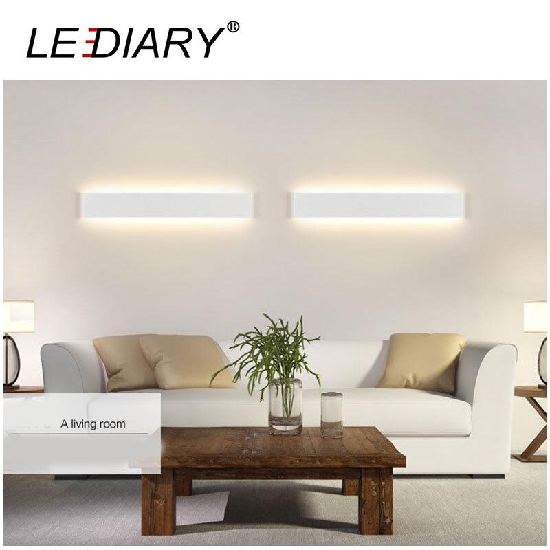 ФОТО LEDIARY Modern 6W 24CM Long White/Black LED Aluminum Indoor Wall Lamp for Bedroom/Living Room Decoration AC 100V-240V