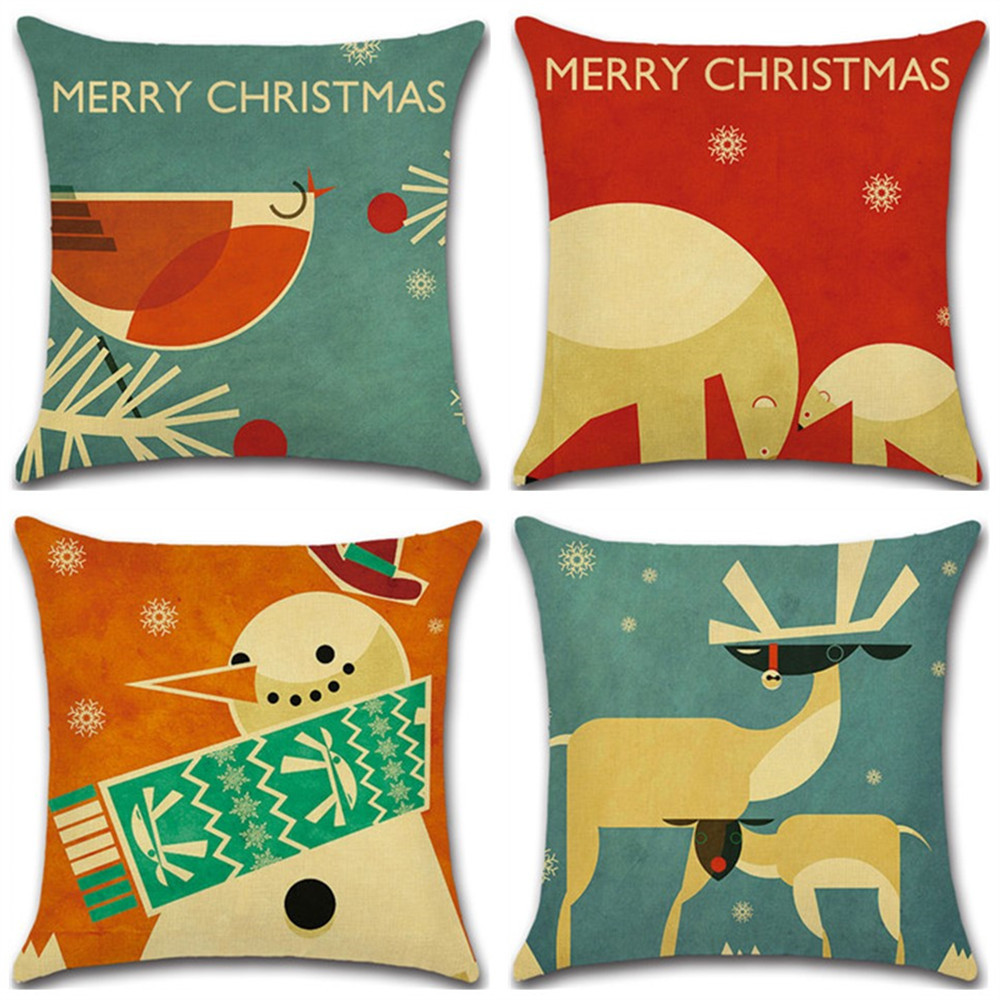 Christmas Pillows.Us 3 04 39 Off Decorative Pillow Case Christmas Pillows Cover Printed Restaurant Seat Case Carseat Pillowcase Soft Bed Pillow Cases In Pillow Case