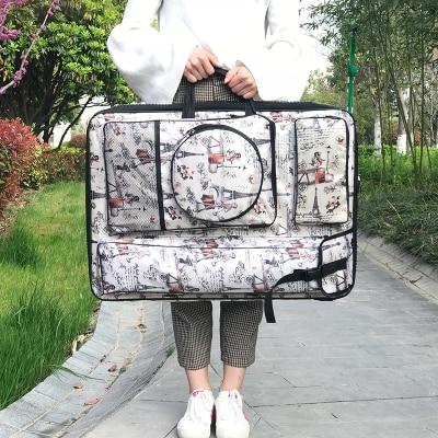 Fashion Large Art Bag For Drawing Tools Sketchpad Art Supplies Bag Waterproof Portable Art Kit Sketch Bag For Artist