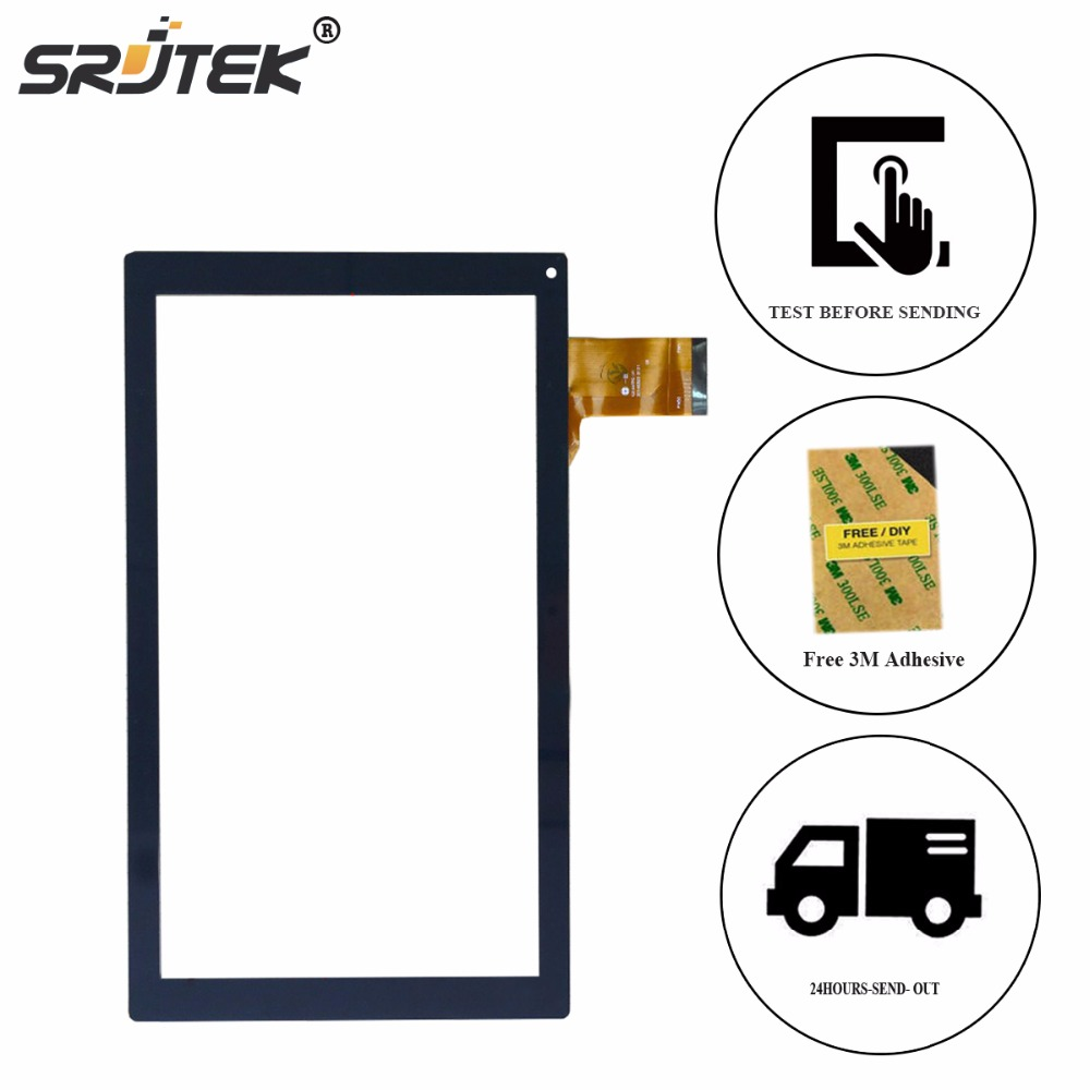 Srjtek For YJ144FPC-V1 10.1Touch Screen Digitizer Glass Sensor Repair Panel Black Glass Parts Tablet for yld cega696 fpc a0 10 1 inch 51 pin new black touch screen panel digitizer sensor repair replacement parts 250 150 5mm