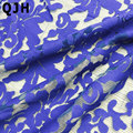 2016 New Arrival France Maple Leaf Embroidery Lace Fabric African Net Lace Organza guipure cord lace fabric For Dress White