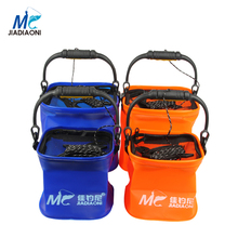 JIADIAONI Folding Live Fish BOX Plastic Carp Rod Fish Bucket Water Tank with Handle Bags Fishing Tackle Accessories