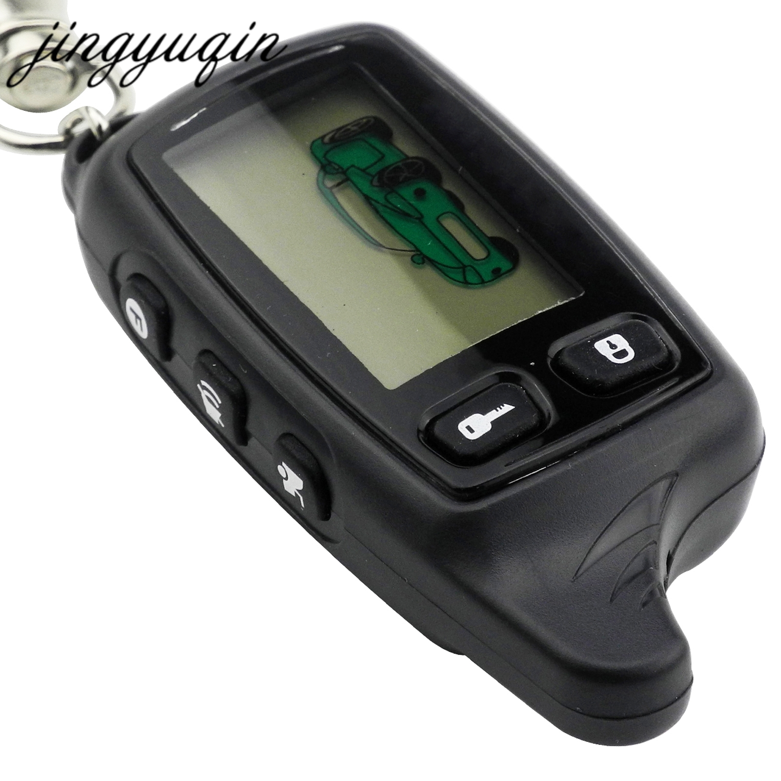 jingyuqin Russian 9010 LCD Remote Controller For Tomahawk TW9010 Two Way Car Alarm System keychain Fob