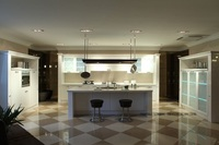 Baking Finish High Gloss Kitchen Cabinet LH LA031