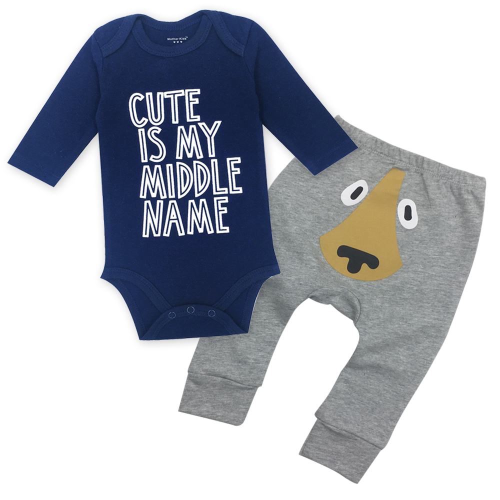 Baby Bodysuits and Baby pants suit 100% Cotton O-neck Long Sleeved Clothing Child Garment Toddler Underwear pant Infant Clothes baby body new real fashion unisex floral full o neck 2018 baby boy pants suit cotton clothing overalls infant autumn pieces
