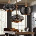 Estilo Loft Ferro Droplight Criativo Corda Luz Pingente LEVOU Luminárias Para Sala De Jantar Lâmpada Pendurada Iluminação Industrial Do Vintage