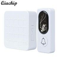QIACHIP 433MHZ AC 90V 260V RF Relay White Receiver And Motion Sensor Transmitter Doorbell For Smart
